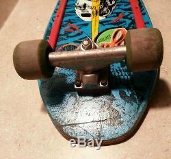 Powell Peralta Skull and Sword skateboard deck VINTAGE tracker trucks