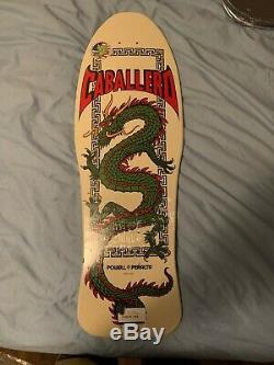 Powell Peralta Steve Caballero Chinese Dragon White 10 x 30 Skateboard Deck