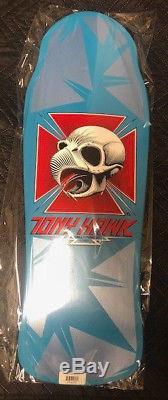 Powell Peralta Tony Hawk Bones Brigade Skateboard Deck chicken Skull RARE blue