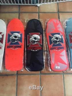 Powell Peralta Tony Hawk Skateboard Deck Bones Brigade Re-Issue Complete Set