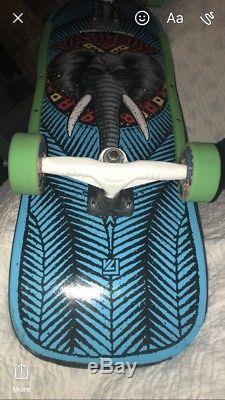 Powell Peralta Vallely Skateboard, Toxic Poison, Gullwing, Bones Swiss bearings