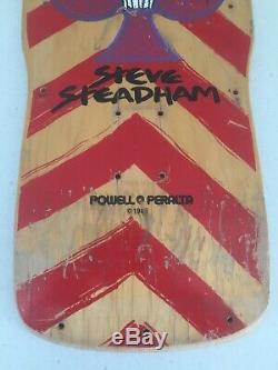 Powell Peralta Vintage Skateboard Deck 1980's Steve Steadham