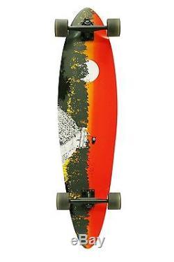 Quest 2012 Classic Longboard Skateboard 40-Inch Hardwood Maple Deck Aluminum Pu