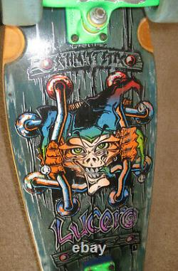 RARE 1987 vintage skateboard Schmitt Stix John Lucero X2 Slime Ball wheels