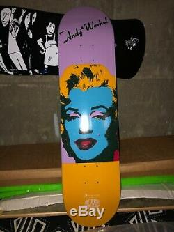 RARE ANDY WARHOL MARYLIN MONROE skateboard deck AWS Hosoi powell vision supreme