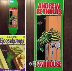 RARE Birdhouse Andrew Reynolds Goosebumps Skateboard Deck Sean Cliver Mint Baker