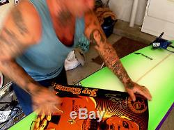 RARE JAY ADAMS100% ORANGE/ Cruiser deck 7.5 x 29.5 Skateboard mini longboard