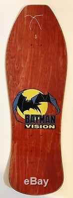 RARE Vintage 1989 Vision Batman Skateboard Deck NOS VSW Vision Street Wear