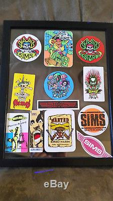 Rare 1987 Old School Sims Kevin Staab Pirate Skateboard Complete Deck Vintage
