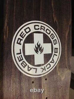 Rare Black Label Red Cross Jeff Grosso signed Blood Drip skateboard deck