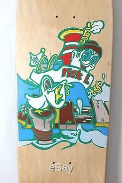 Rare NOS New Deal Rick Ibaseta skateboard deck original 1991