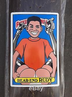 Rare NOS Vintage 1992 BLIND Rudy Johnson Fuced Up Blind Kids Skateboard Deck