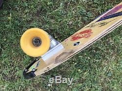 Rare Old 1970s Sims Brad Bowman 10.0 Skateboard, Sims Comp Wheels Tracker Trucks
