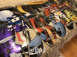 Rare Set Of 8 Primitive Foil Transformers Skateboard Deck Nos PROD ONeil Look