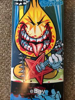 Rare World Industries Flameboy with Guitar Rocker Skateboard Deck