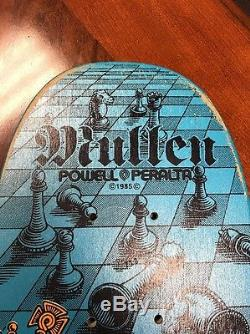 Rodney Mullen Chess Freestyle Skateboard Deck NOS Blue Powell Peralta