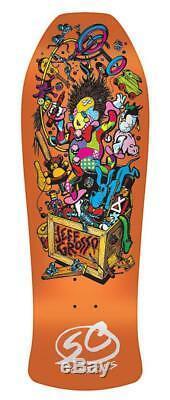 SANTA CRUZ JEFF GROSSO TOYBOX 80s REISSUE ORANGE 10'' SKATEBOARD DECK RARE