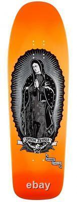 SANTA CRUZ Jason Jessee Guadalupe Skateboard Deck Orange Neon Dip/Metallic Ink
