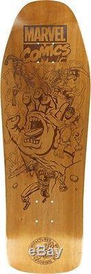 SANTA CRUZ MARVEL BATTLE ENGRAVED SKATE DECK-10x31.3 with MOB Grip