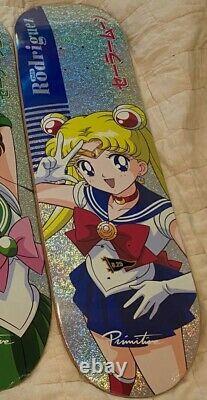 SUPER RARE Primitive X Sailor Moon Skateboard Collection! 5/6 DECKS