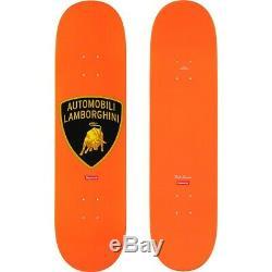 SUPREME lamborghini automobili skate deck 8.2532 ORANGE