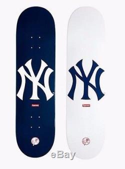 SUPREME x New York Yankees'47 Brand Skateboard Deck Navy camp box logo S/S 15