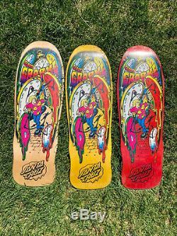 Santa Cruz CLAUS GRABKE Melting Clocks Skateboard Deck set of 3 Jeff Grosso