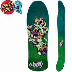 Santa Cruz Mummy Screaming Hand Shaped Skateboard Deck Jim Phillips 10inch