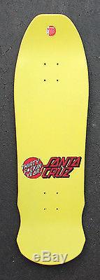 Santa Cruz Rob Roskopp Face deck, yellow, reissue NOS