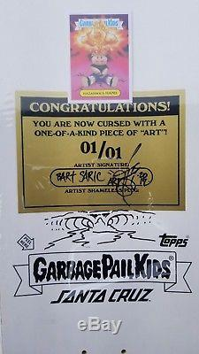 Santa Cruz Skateboard Garbage Pail Kids Topps RARE 1 of 1! SALBA The Grail
