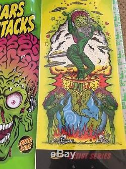 Santa Cruz Skateboards Mars Attacks deck! 1/1! PHIL GUY custom painted