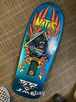 Santa Cruz Sma Natas Kaupas Panther 3 Reissue Skateboard Deck Rare Blue