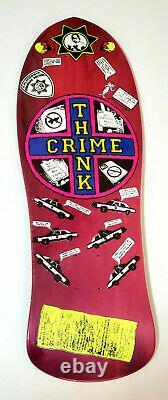 Santa Monica Airlines Jessee Martinez Think Crime Skateboard Deck 10x30 Pink