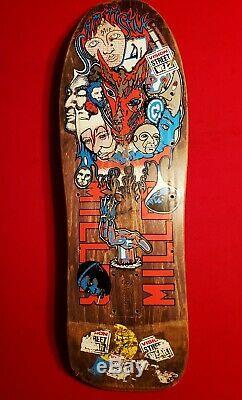 Schmitt Stix Chris Miller vintage skateboard The wide one. RARE Perfect graphics
