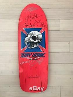 Signed Bones Brigade Team Tony Hawk Pink Powell Peralta Skateboard Deck Reissue