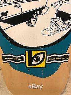 Skateboard Vintage Blockhead Street Standard Nos Deck Alva Sims 101 Blind Origin