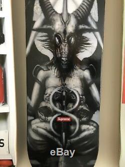 Supreme 2014 F/W H. R Giger Skateboard The Spel Deck Box Logo Alien Art