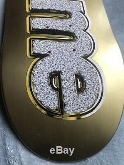 Supreme Bling Logo Skateboard Deck Set Sliver/gold