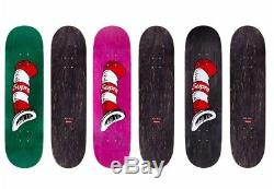 Supreme Cat in the hat skate skateboard deck box logo GREEN