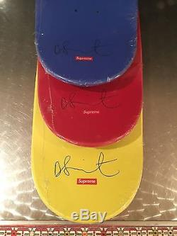 Supreme Damien Hirst Skate Decks Skateboards Set In Plastic Rare