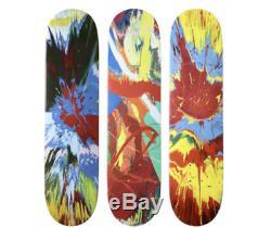 Supreme Damien Hirst Spin Red Blue Yellow Skate Decks