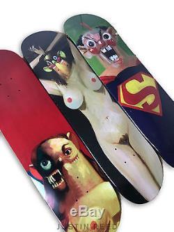Supreme George Condo Skateboard Skate Deck Set of Three