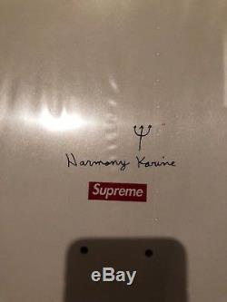 Supreme Harmony Korine Skateboard Condo Koons Saville box logo wool hirst