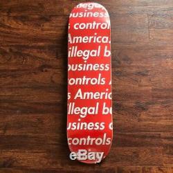 Supreme Illegal Business Controls America Skate Deck Red SS18 IBCA