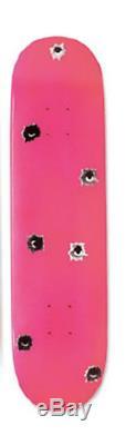Supreme Nate Lowman Bullet Holes Skateboard Deck Pink