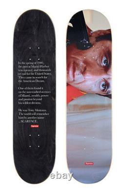 Supreme Scarface Shower Scene Skateboard Deck F/w 2017 100% Authentic