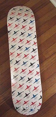 Supreme Skateboard Deck Planes Logo White 8.0 Box Logo World Famous FW15 NEW