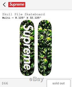 Supreme Skull Pile Skateboard Deck SS18 Confirmed Order 100% Authentic