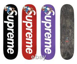 Supreme/Smurfs Skateboard Deck Only Left Black five Decks