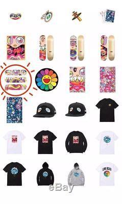 TAKASHI MURAKAMI COMPLEXCON 2017 SKATE DECK SET Dobtopus Limited. Skateboard